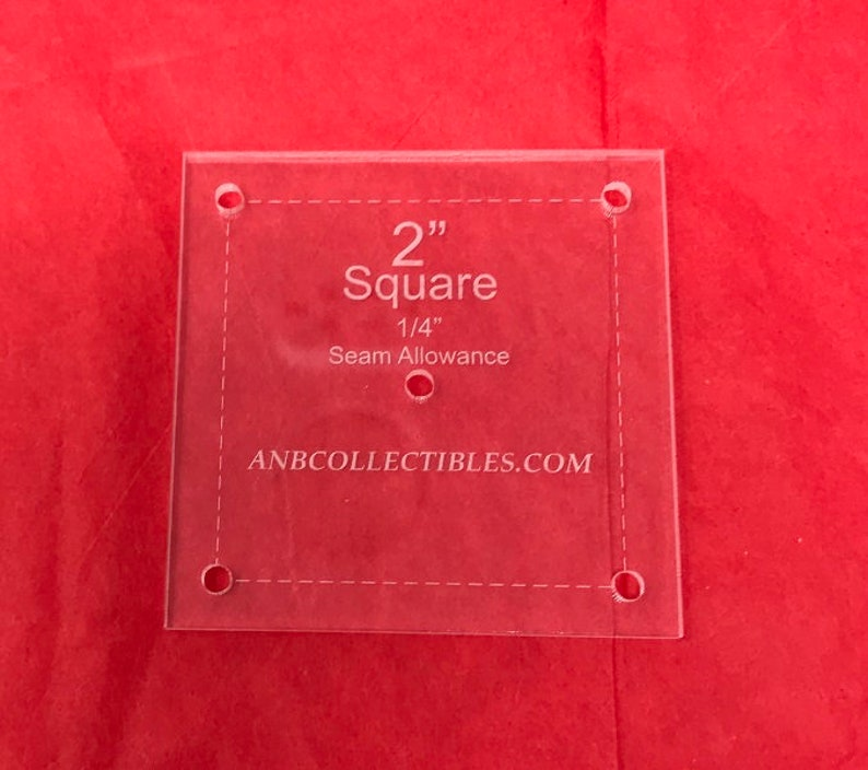 3.5 Choice of Size Acrylic Square Quilt Template
