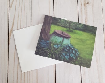 The Cauldron Greeting Card   Acrylic Painting Print With Blank Inside