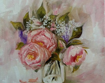 Roses in Oil Painting