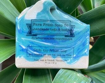 Siesta Key Artisan Soap, Blue Raspberry Slushie Soap