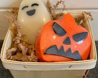 Halloween Soap Gift Box, Goats Milk Soap, Halloween Soap, Pumpkin Soap, Ghost Soap, Fall Soap, Teacher Gift, Fall Gift Basket