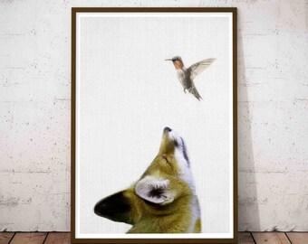 Printable Baby Fox, Woodland Fox Decor, Print Fox Baby, Print Nursery Fox, Woodland Nursery Wall Art Fox, Fox Print, Nursery Baby Fox Art