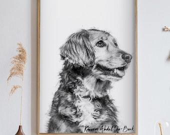 Custom Pet Gift, Dog Mum, Dog Sympathy, Custom Dog Portrait Digital, Dog Gift For Him, Custom Pet Portrait, Custom Pet Art, Loss Of Pet