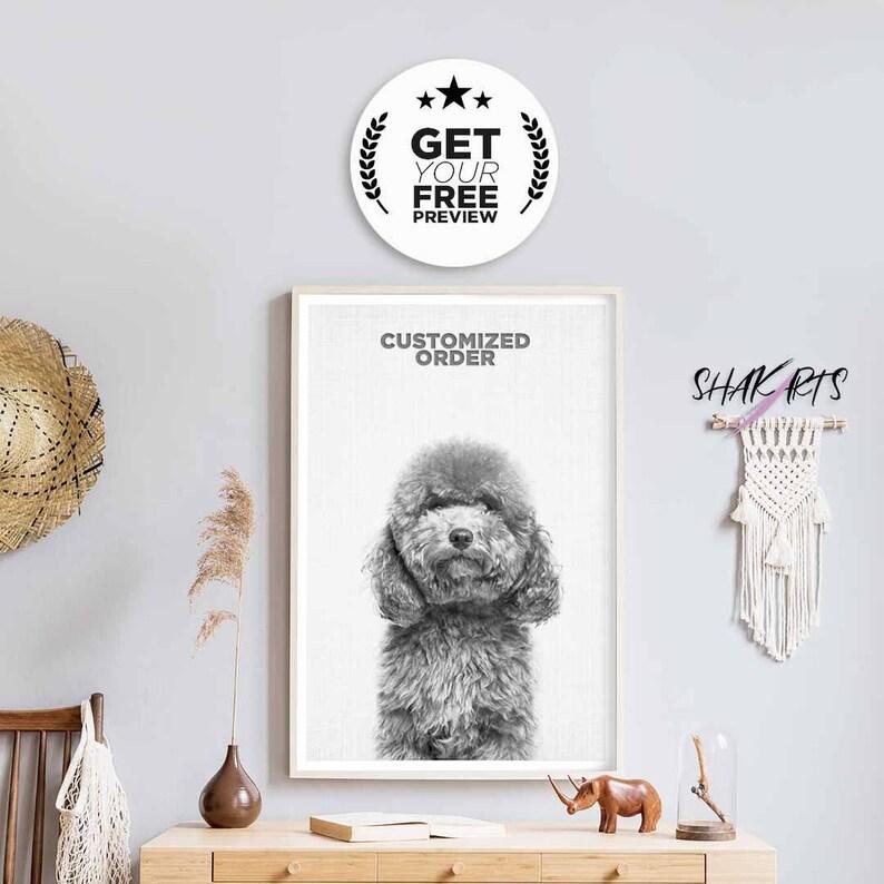 Loss Of Dog Custom Pet Print Dog Art Print Pet Sympathy Print Dog Gift For Him Gift For Her Custom Pet Gift Custom Portrait Digital