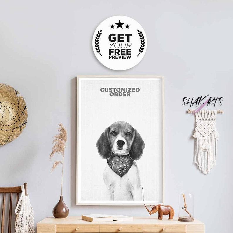 Dog Memorial Gift Custom Pet Print Custom Portrait Digital Dog Loss Pet Lover Custom Pet Memorial Gift For Loss Of Dog Dog Art Print