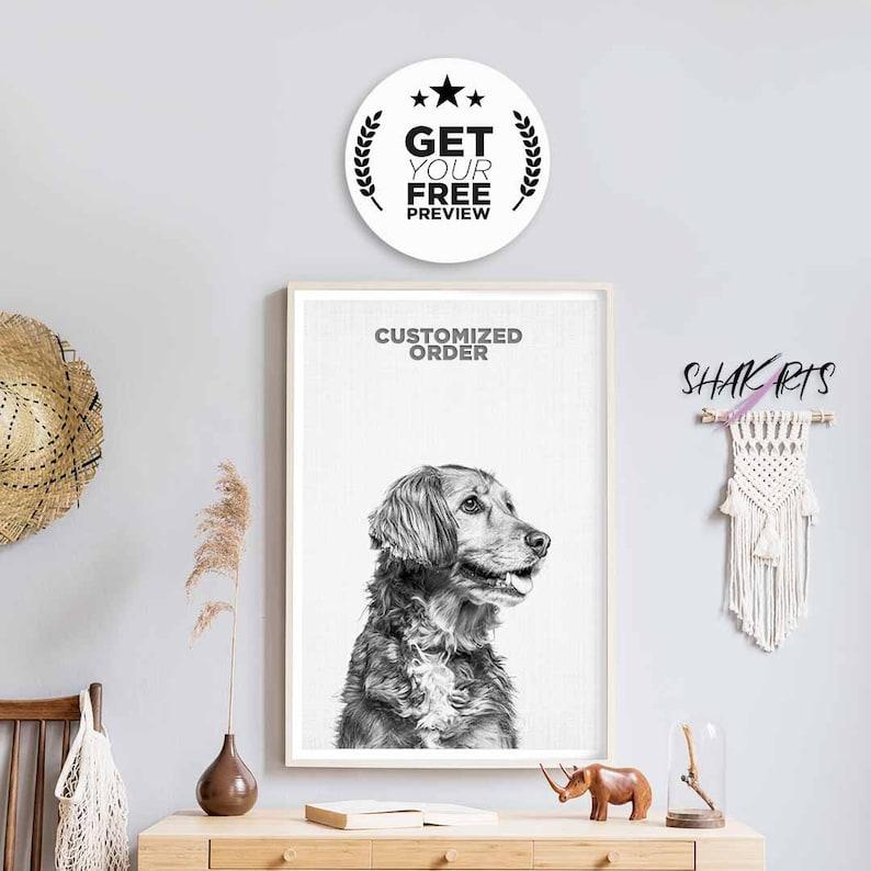 Custom Pet Gift Dog Mum Dog Sympathy Custom Dog Portrait image 0