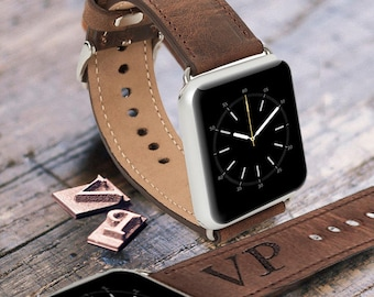 Leather Strap band for Apple Watch 38 / 42 mm Genuine Leather Watch Strap