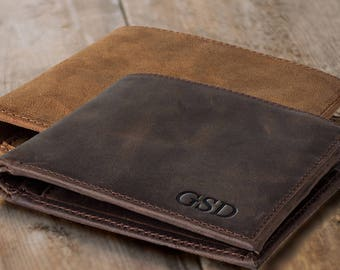 9c2ed16a4ad4 Personalized leather wallet