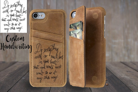 iphone 8 case personalised wallet