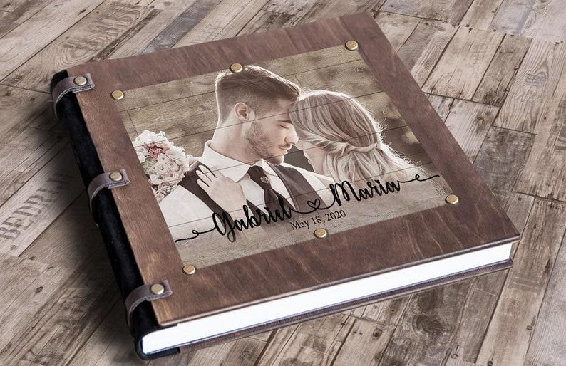 valentine's day for him wooden notebook valentine's image 0