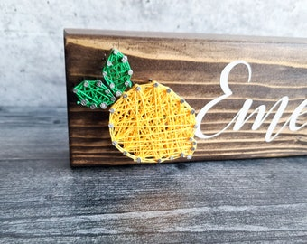 Lemon Name Sign, Personalized, Hand painted Teacher Desk Sign, Last Name, Family Name Sign, Customized, shelf Sitter, Thank you Gift