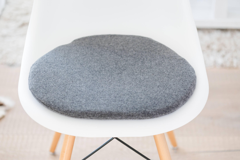 Sitzkissen F R Eames Chair In Grau Mit Kaschmir Etsy