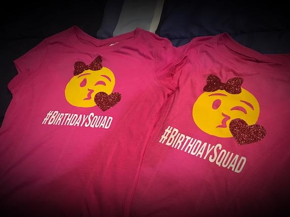Emoji Birthday Squad Shirt For Her Or Kids