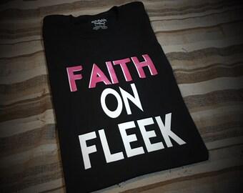 Faith On Fleek T-Shirt (Pink and White)