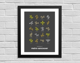 Intersections of Metro Vancouver