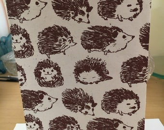 Hedgehog blank handmade greeting card
