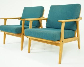 307-101 SALE! Danish Mid Century Modern Beech Lounge Armchair Easy Chair