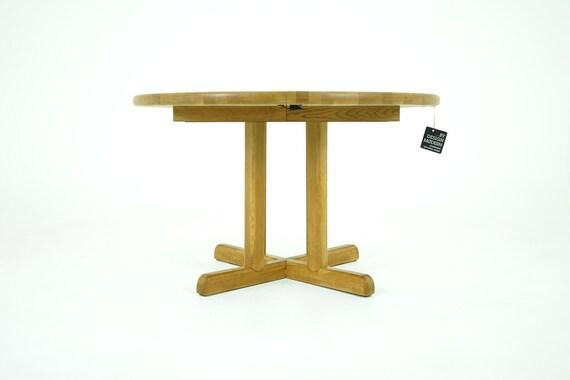 Oak Dining Table Danish Mid Century Modern Etsy - Mid century oak dining table