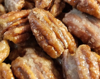 Praline Pecans Roasted in Dr. Pepper--Glazed Candied Texas Pecans, German Roasted Nuts, Gluten Free, Vegan Nuts, Texas Gifts, Half Pound Bag