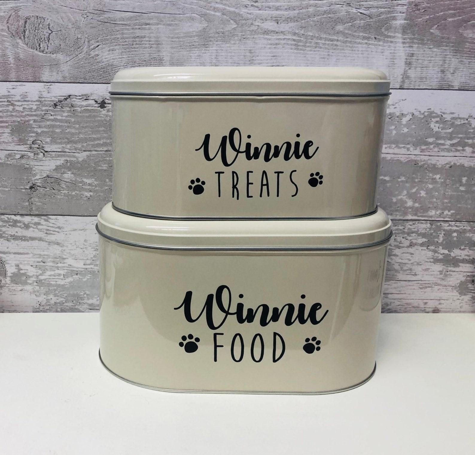 Personalised pet storage tin