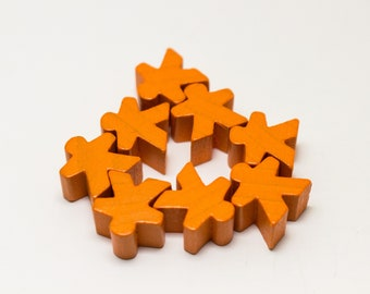 Orange Carcassonne Meeples Board Game Small People Pawn Pieces