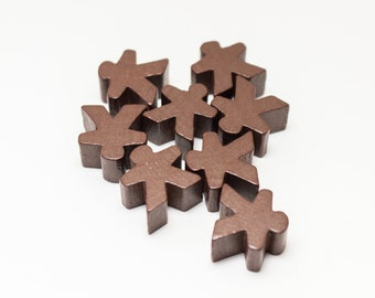 Brown Carcassonne Meeples Board Game Small People Pawn Pieces