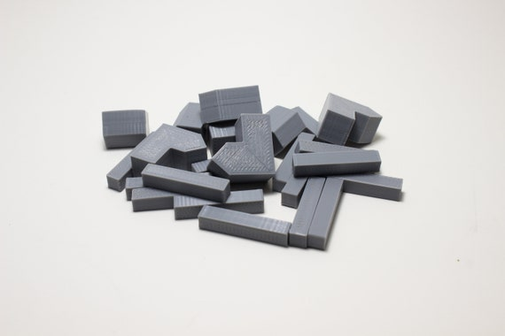 YorksGamePieces Gray Wood Replacement Pieces for Settlers of Catan