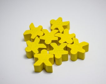 Yellow Carcassonne Meeples Board Game Small People Pawn Pieces