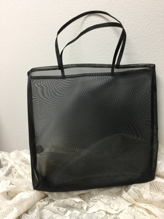 Black color Mesh Project Bag Multi Purpose 4pcs Set Mesh Bag Mesh Zip Case
