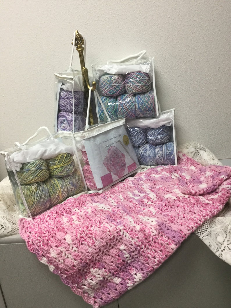 Lacy Waves Crocheted Baby Afghan Kit Etsy