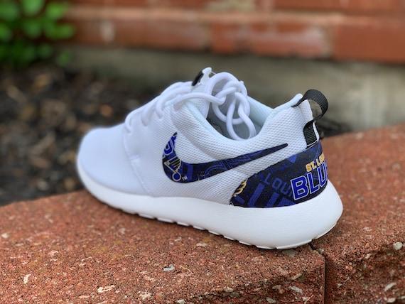 Custom St Louis Blues Nike Roshe Style 1