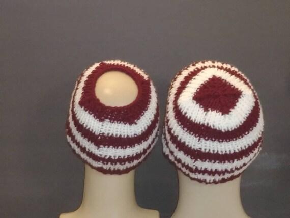 Toboggan Hat Knit Beanie knit skull cap Messy Bun Hat Pony  7b5bb3762435
