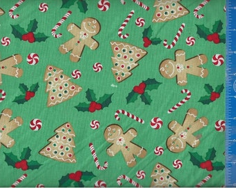 Holiday Sweets Cookies and Candies, Fabric Quilting Crafting Home Decor
