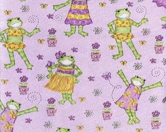 Fashion Frog Purple Lavender Fabric Printed Decorative Nursery Home Decor