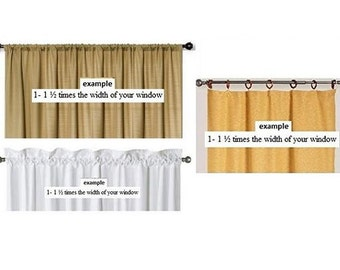 Custom valance with your length, width and your Fabric