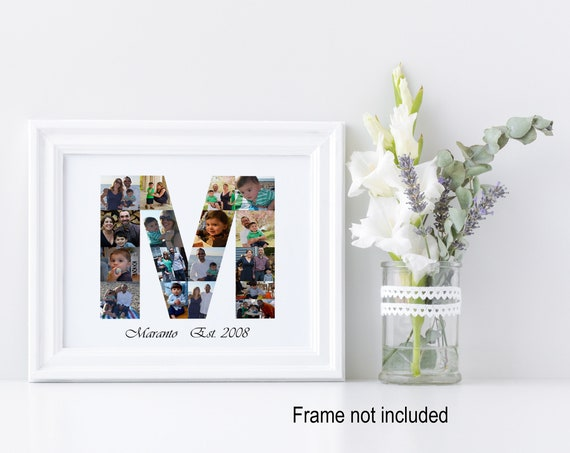 Letter M Photo Collage - Personalized Monogram Photo Gift - Custom Made with your Digital Pictures!