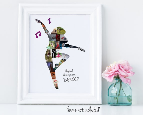 Personalized Dance Recital or Dance Teacher Gifts, Custom Dancer Photo Collage