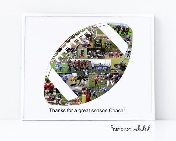 Football Coach Thank You Gift, Personalized Football Photo Collage