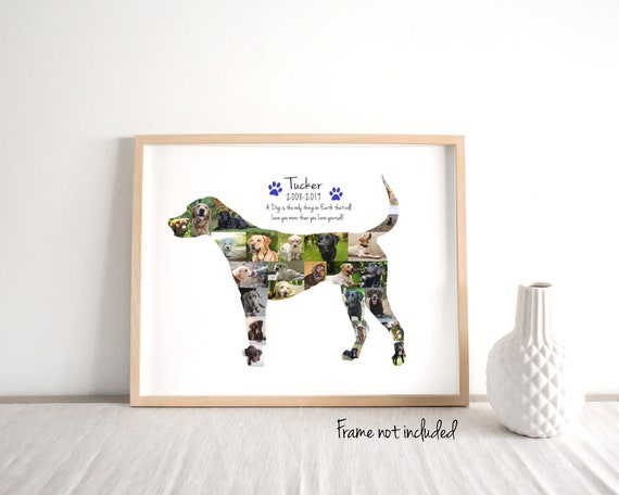 Personalized Dog Gift, Dog Photo Collage - Custom Made from Your Digital Pictures!