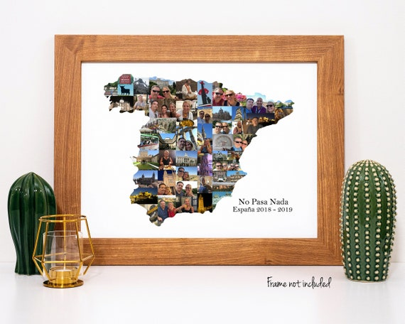 Personalized Travel Gift, Spain Photo Collage - Custom Made with your Digital Pictures!