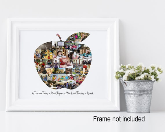 Personalized Teacher Appreciation Gift - Custom Made Apple Photo Collage