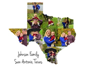 Texas State Photo Collage, Custom Photo Gifts, Custom Made from your Photographs, Texas Pride, United States Picture Collage, Texas Art