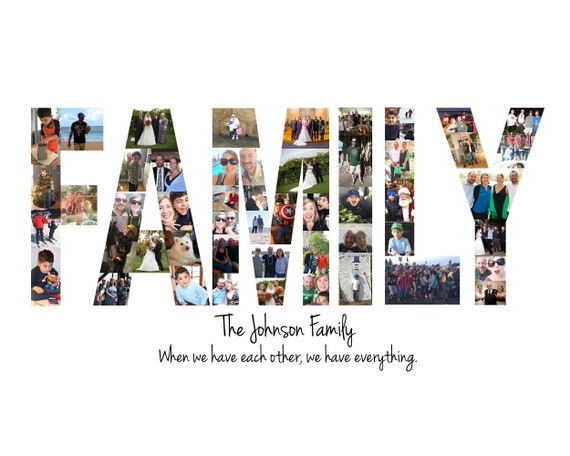 Family Photo Collage Gift - Custom Made with your Digital Pictures!