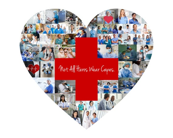 Nurse Thank You Gift, Doctor, EMT, Healthcare Worker Appreciation Gift - Custom Made Photo Collage