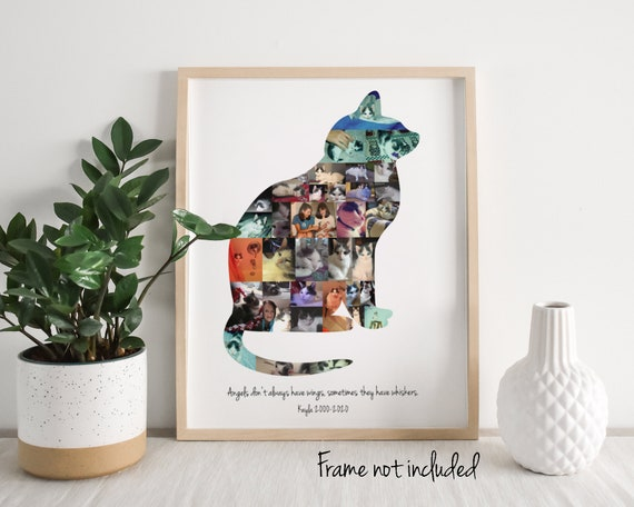 Personalized Cat Lover Gift, Custom Made Photo Collage - Cat Memorial made from your Digital Pictures!