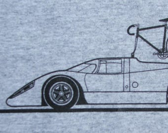 Bicycle T Shirt Bike with Porsche 917K