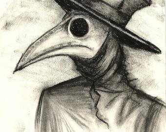 Plague doctor print