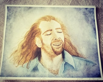Con Hair - print of Nicolas Cage 8x10