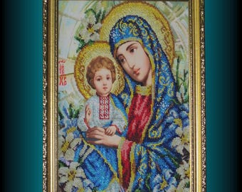 Gifts for mom Gift for women Original art Easter Gift Wall art Madonna and child Virgin Mary Religious icons Religious gift Christian décor