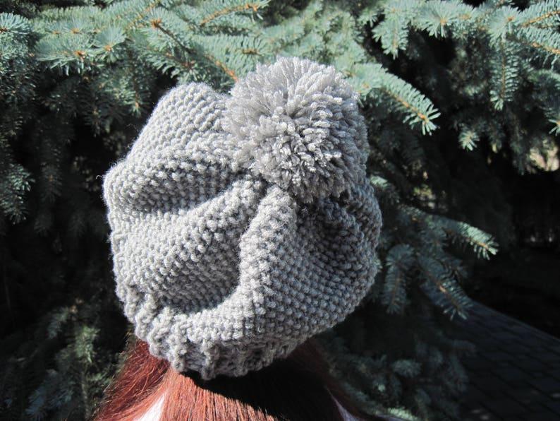 Christmas gift Hand knit women beret women's gifts image 0